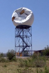 Del Rio Radar Dome Damaged by Rear Flank Downdraft winds